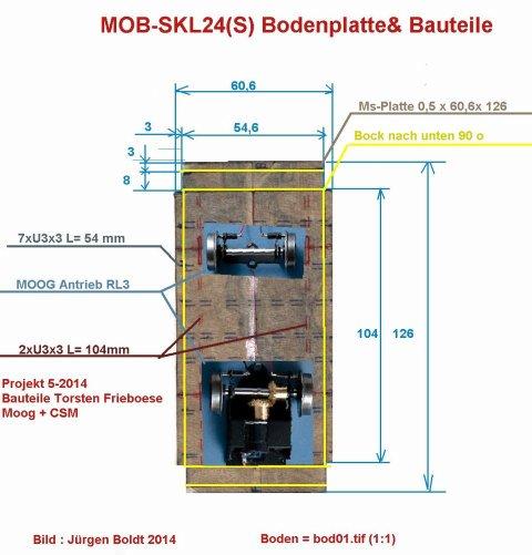 Baubericht des SKL 24(S) für Spur 0 BOD01