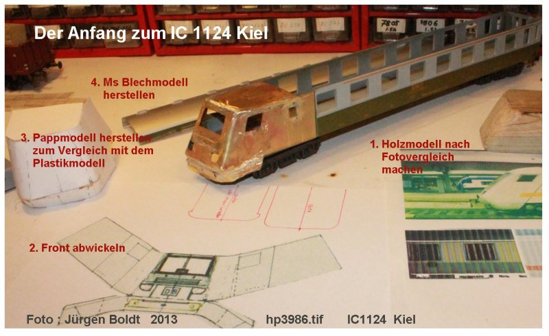 2tes Projekt 2014 -Der IC 1124 Kiel in 0 HP3986