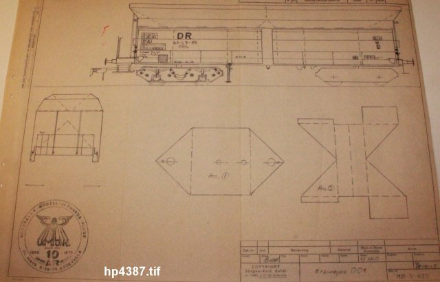 Güterwagen bei der MOB HP4387