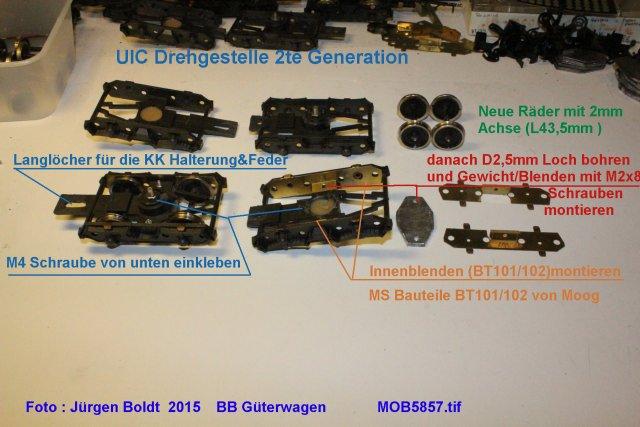 Güterwagen bei der MOB MOB5857