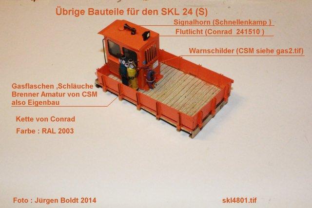 Baubericht des SKL 24(S) für Spur 0 SKL4801