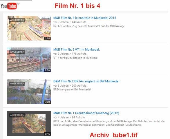 Video's bearbeiten TUBE1